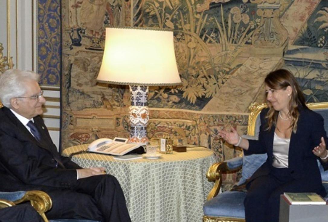 Mirella Casiello (OUA) incontra il Presidente Mattarella
