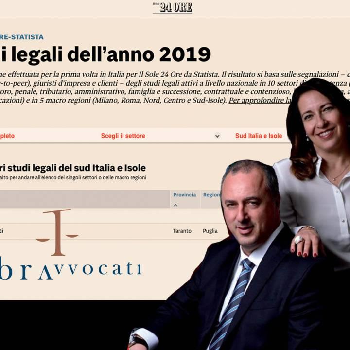 Libra Avvocati nella classifica dei migliori 2019 de Il Sole 24 Ore
